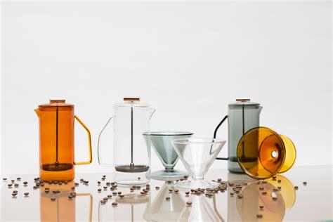 Supply coffee knock box accessories new waste bin storage bars espresso. Glass Coffee Accessories From YIELD - Design Milk