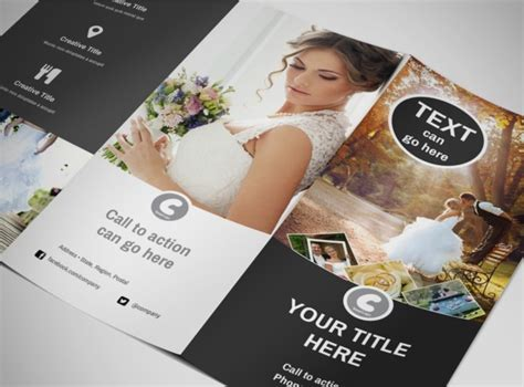wedding photography package tri fold brochure template