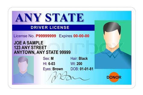generic male state driver license stock photo colourbox