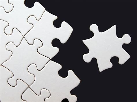 blank puzzle  templates powerpoint background