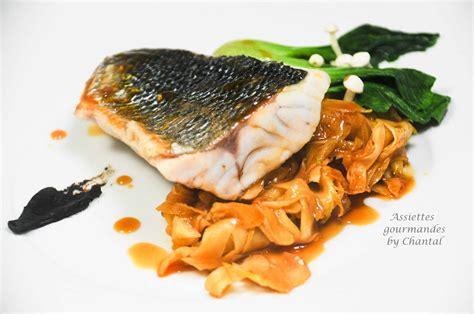 cuisine bar poisson filets de bar ou loup sauvage fenouil et gastrique d 39 orange