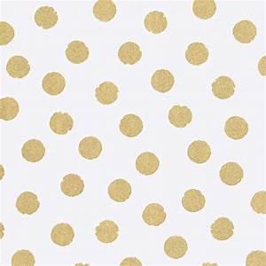 rice tapete grosse punkte gold mit glitzer bei kinder raume With markise balkon mit tapete gold rosa