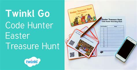 twinkl  code hunter easter treasure hunt