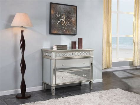 4 Drawer Mirrored Dresser Quality Furniture Bedroom Chest
