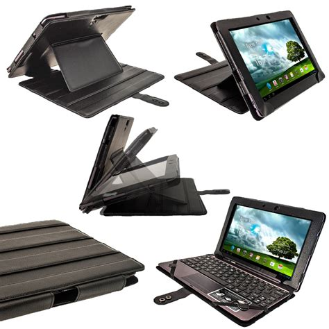 igadgitz black guardian pu leather for asus