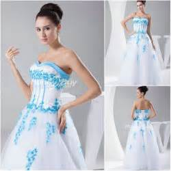 blue dresses for wedding blue and white wedding dresses a trusted wedding source by dyal net