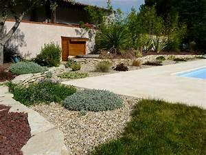 Les Jardins Du Sud : d cor min ral autour d 39 une piscine eaunes paysagiste ~ Melissatoandfro.com Idées de Décoration