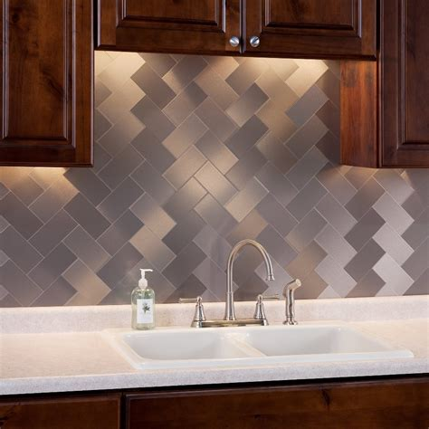 stainless steel backsplash tile stainless steel backsplash tiles the tile home guide