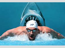 Michael Phelps challenges a shark, ocean's most fearsome