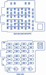 Chevrolet Tahoe 1998 Front Fuse Box  Block Circuit Breaker Diagram