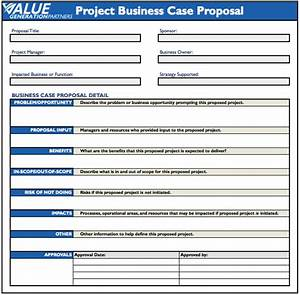 regardless of your project business case proposal template With writing business cases template