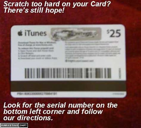 itunes gift card codes scratched