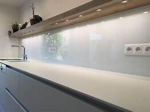 Crédence Cuisine En Verre : cr dence de cuisine en verre laqu blanc atelier du ~ Premium-room.com Idées de Décoration