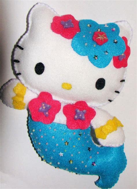 kitty mermaid  food plushie sewing  cut