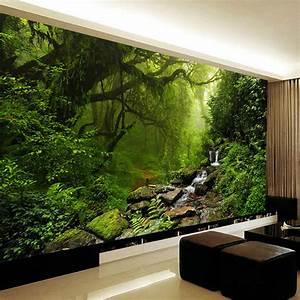 Poster Mural Nature : photo wallpaper 3d stereo virgin forest nature landscape wall mural living room sofa tv bedroom ~ Teatrodelosmanantiales.com Idées de Décoration