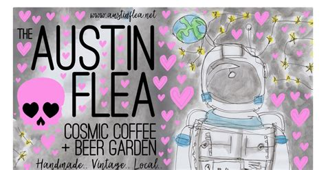 Take the outdoor garden, a restored asphalt lot that now serves as a vegetable garden and ecological pond. Austin Flea at Cosmic Coffee in Austin at Cosmic Coffee + Beer