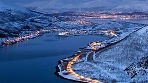 Wallpaper, City, Lights, Of, Tromso, Norway, Winter, Night