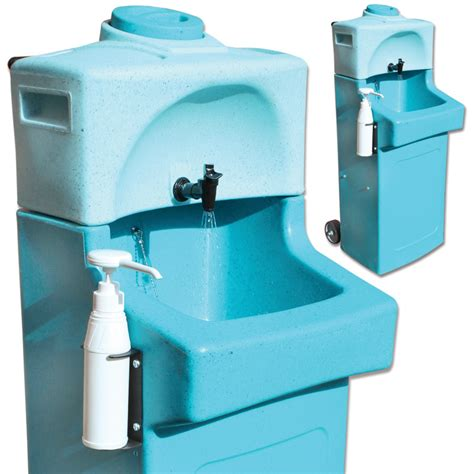 mobile hand wash sink unit kiddisynk blue kiddiwash