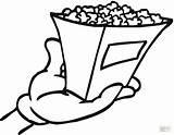 Popcorn Coloring Pages Printable Grill Bag Chips Shopping Outline Clipart Template Getcolorings Clip Bucket Tasty Box Supercoloring Snacks Donuts sketch template