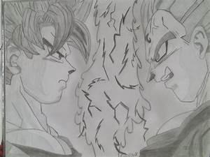 Majin Vegeta Vs Super Saiyan 2 Goku by EddySixX on DeviantArt