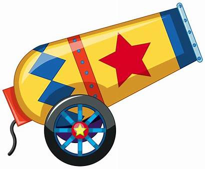 Circus Canon Vector Cannon Confetti Yellow Clipart