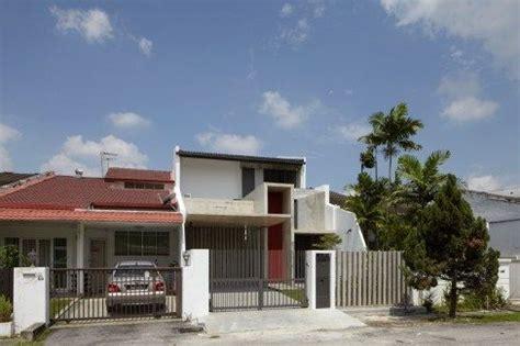 malaysian single storey terrace renovated modern facade terrace house exterior house