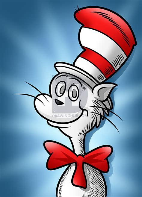draw  cat   hat dr seuss step  step