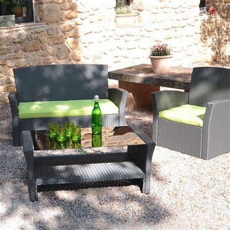 Lot de 3 coussins pour salon de jardin Ibiza - Anis - Coussin et matelas pour mobilier - Eminza