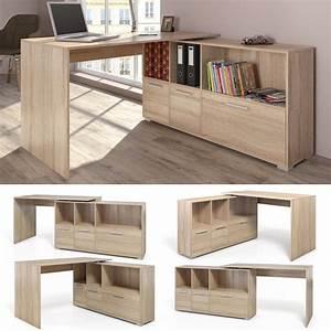 Schreibtisch Dunkles Holz : scrivania ad angolo scrivania a spigolo scrivania per pc quercia sonoma ebay ~ Yasmunasinghe.com Haus und Dekorationen