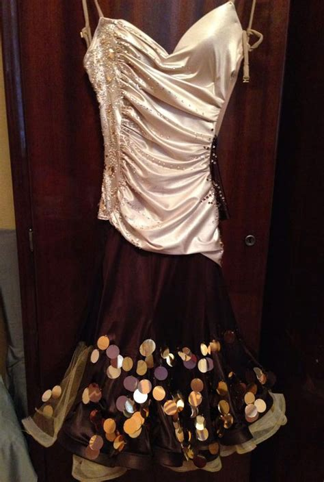 cream brown latin dance dress  sale dreamgown
