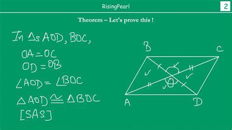 quadrilateral   diagonals bisect