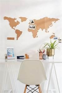 Pinnwand Weltkarte Kork : weltkarte wand 73 beispiele dass weltkarten dynamik in die innengestaltung bringen ~ Markanthonyermac.com Haus und Dekorationen