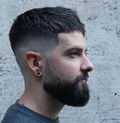 Short Fade Haircuts for Men with Beards