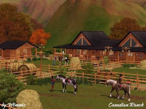 Последние твиты от ranch simulator (@ranchsimulator). Wimmie's Canadian Ranch-Updated   Sims 3, Sims, Ranch