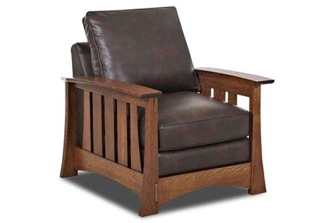 Stockton Leather Arts And Crafts Mission Style Arm Chair