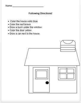 set   worksheets  written directions