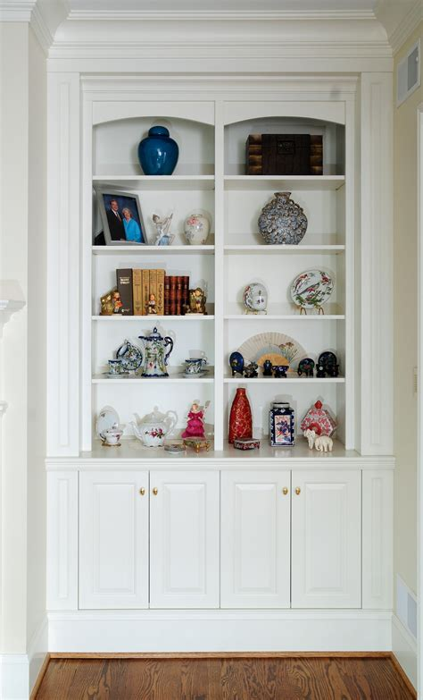 Colonial White Bookcases With Mantle Custom Cabinetry By
