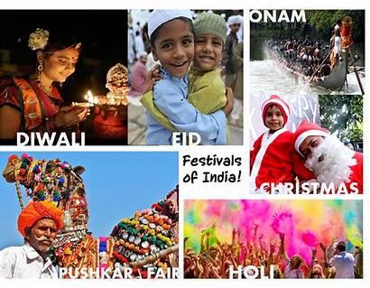 Indian Culture Western Festivals Collage Major Between