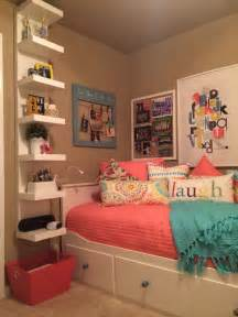 teenage daughter s complete small coral and teal bedroom