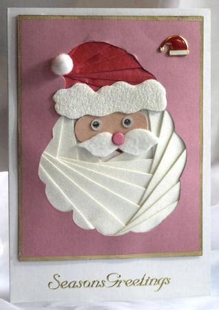 christmas santa face iris folding pattern cup