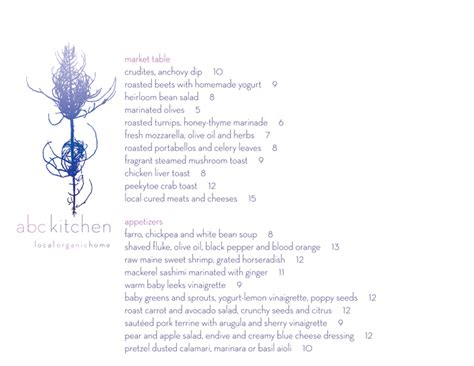 abc kitchen menu abc kitchen gastro chic