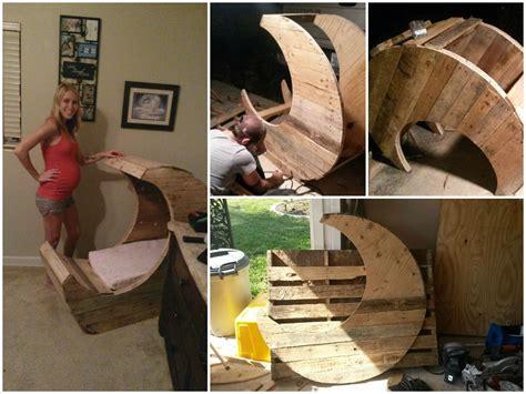 moon pallet baby cradle diy tutorial wood pallets