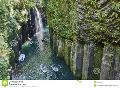 Tourists At The Takachiho Gorge Editorial Photo Image Of