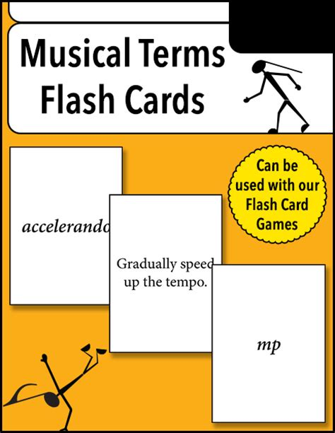 Choral music with no instrumental accompaniment accelerando: Musical Terms Flash Cards - Warm Hearts Publishing