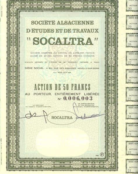 société générale siège social société alsacienne d 39 etudes et de travaux socaltra 1963