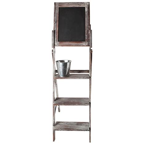 shabby chic easel shabby chic brown easel style rustic wood chalkboard 3 tier display shelf vintage stand