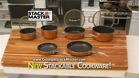 gotham steel stack master tv commercial space saving cookware ispottv