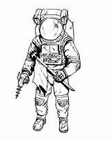 Astronaut Coloring Pages Space Suit Drawing Printable Tattoo Spaceman Nasa Draw Illustrations Simple Suits Drawings Moon Getdrawings Drawn Sheets Clipartmag sketch template