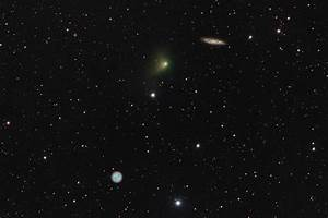 The Comet, the Owl, and the Galaxy. (xpost /r/space ...