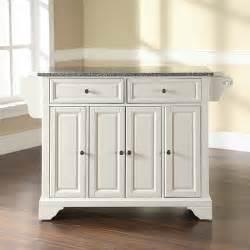 kitchen islands granite top crosley lafayette kitchen island with granite top reviews wayfair